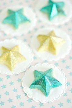 How to make pretty glittered chocolates.