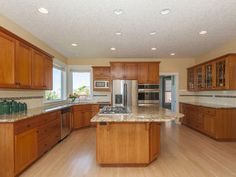 Forest Heights View Craftsman: Gourmet Eat-In Kitchen With Hardwood Floors, Cherry Cabinets, Granite and Pantry