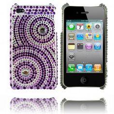 Marilyn (Spiral - Lila) Bling Bling iPhone 4-Skal