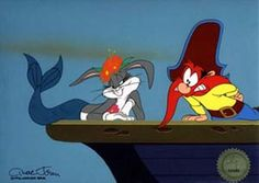 Bugs Bunny and Yosemity Sam from Hare to Eternity Old Cartoons, Classic Cartoons, Looney Tunes Characters, Disney Characters, Fictional Characters, Pink Panthers, Old Tv Shows, Bugs Bunny, A Cartoon