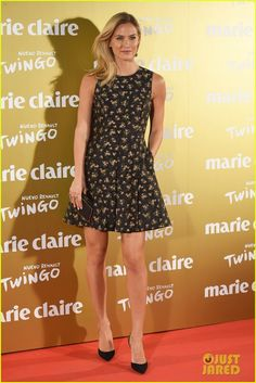 Bar Refaeli dons a chic little dress while attending the XII Marie Claire Prix de la Moda Awards held at the Callao cinema on Wednesday (November 19) in Madrid,…