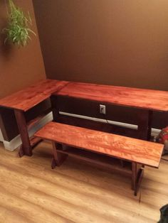 Kid's table Kid Table, Outdoor Furniture, Outdoor Decor, Dining Bench, Home Decor, Homemade Home Decor, Table Bench, Decoration Home, Dining Room Bench