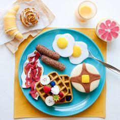 Sentita frittella e waffel Gourmet Breakfast Set - cibo feltro - lana on Etsy, 64,61€