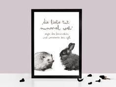 Kunstdruck LIEBE TUT WEH von Prints Eisenherz auf DaWanda.com