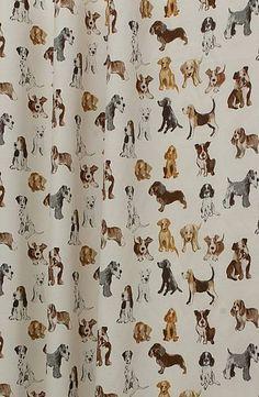 Dog shower curtain!