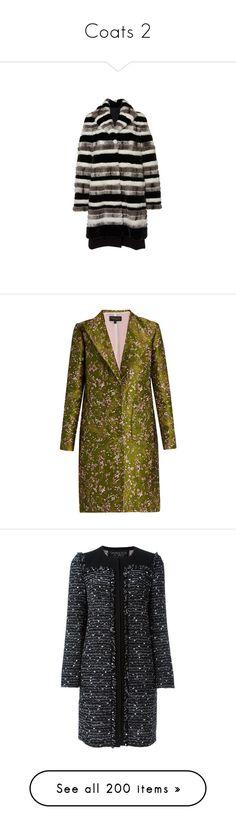 """Coats 2"" by theprissydiary ❤ liked on Polyvore featuring outerwear, coats, mink fur coat, stripe coat, patterned coat, print coat, mink coat, coats & jackets, giambattista valli and green multi"