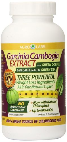 Agro Labs Garcinia Cambogia with Green Coffee and Decaffeinated Green Tea Caplets, 90 Count >> Check out this great image @ : Garcinia cambogia