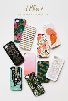 Love every iPhone case from Rifle Paper. Aren't Anna Bond's illustrations wonderful?