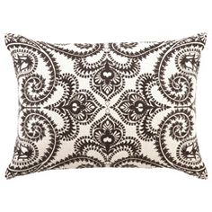 DL Rhein Amalfi Chocolate Embroidered Linen Pillow PH24DL521CC20OB