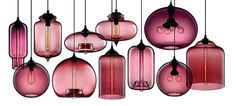 Contemporary Pendant Lamps in Plum by nichemodern, via Flickr