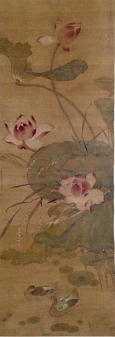 Chinese - Ducks in a Lotus Pond - Walters 3566.jpg