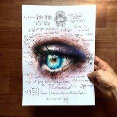 WANT A FEATURE ? CLICK LINK IN MY PROFILE !!! Tag #LADYTEREZIE Repost from @elia_pelle - black hole - New commission drawing with scientific notes. Realistic eye realized with watercolor and colored pencils with physic notes about black holes (also from Kip Thorne) What do you think guys? via http://instagram.com/ladyterezie