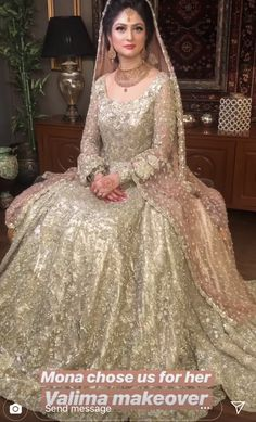 Pakistani Wedding Outfits Elegant Pakistani Valima Bride someday In 2019 Pakistani Wedding Dresses Online, Muslim Wedding Dresses, Pakistani Bridal Dresses, Bridal Lehenga, Bridal Gowns, Pakistani Outfits, Indian Outfits, Formal Dresses, Nikkah Dress