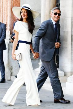 We reflect on the most stylish outfits from human rights lawyer Amal Clooney - who was a fashion icon in her own right before meeting husband George Clooney. Fashion Mode, Look Fashion, Timeless Fashion, Amal Alamuddin Style, Stylish Couple, Fashion Couple, Couple Outfits, Red Carpet Dresses, Celebs