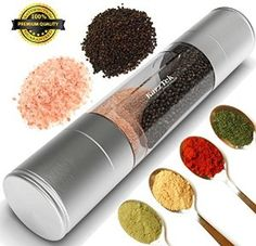 This is a 2-in-1 Salt and Pepper Grinder. I love this product. You put peppercorns in one end and sea salt or himalayan salt in the other. It's a great looking stainless steel grinder!