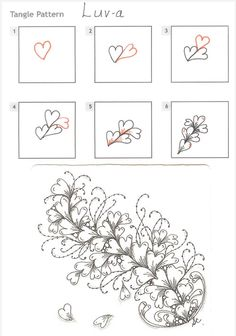 How to draw LUV-A « TanglePatterns.com