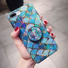 Holo Laser Mermaid Phone Case with FREE PopSocket Grip * Stunning, protective case made from high-quality IMD * Laser-inspired lights glinting off the glossy finish … Iphone 8, Apple Iphone, Iphone Phone Cases, Phone Covers, Tech Accessories, Cell Phone Accessories, Cartoon Disney, Cute Stitch, Accessoires Iphone