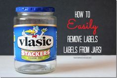 Are you ready to have your socks rocked off? I am not even kidding. I have the best way to remove labels from Jars and containers without leaving that annoying adhesive residue behind!