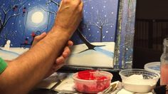 Michael Prosper Paints a whimsicle painting of cats in snow. Paintings For Sale, Glass Of Milk, Videos, Youtube, Christmas, Xmas, Weihnachten, Navidad, Yule