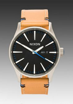 Nixon The Sentry Leather in Natural