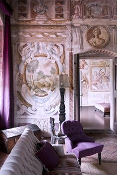 Frescos at a Villa in Venice, Italy.