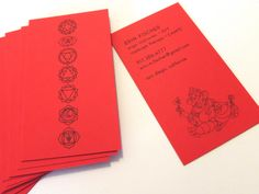 Yoga Cards for private yoga instructor from Harken Press