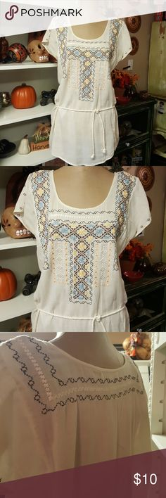 Lucky Brand Embroidered Tunic Top Lucky Brand Embroidered Tunic Top Lucky Brand Tops Tunics