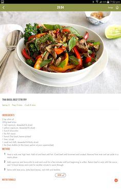 Thai beef stir fry Healthy Eating Recipes, Healthy Foods To Eat, Diet Recipes, Cooking Recipes, Healthy Mummy, Recipies, Beef Stir Fry Healthy, Thai Beef Stir Fry, 28 By Sam Wood