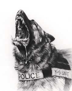 Police K-9 by Lucks Art 911. 8x10 prints available to order.