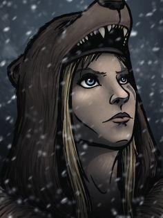 Skyrim - Snowfall - http://videogamedirectory.net/?s=skyrim