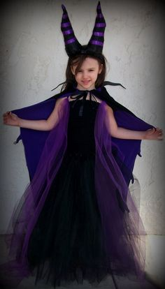 Maleficent, Sleeping Beauty Villian, inspired tutu dress costume on Etsy, $42.00