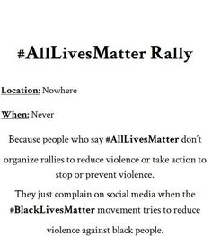 AllLivesMatter is a joke and pisses me off. BlackLivesMatter is NOT saying ONLY . - Equality Now - Chat Intersectional Feminism, Social Change, Fight Club, Oppression, Social Justice, Change The World, Real Talk, Equality, Social Media