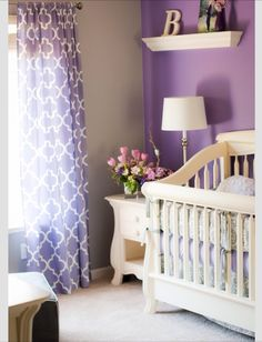 Purple and beige. Love!!