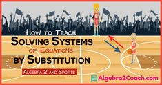 Substitution is something your students are very familiar with. Use this to your advantage when teaching Solving Systems of Equations by Substitution. Systems Of Equations, Solving Equations, Math Strategies, Math Resources, Classroom Resources, Classroom Ideas, Maths Algebra, Math Math, Math Fractions