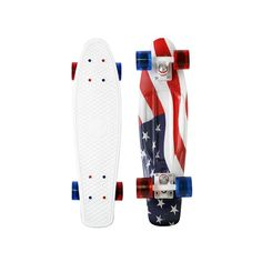 Celebrate the Fourth of July with this patriotic Penny Skateboard. The Penny 'forever may it wave' board features a standout graphic of the American Flag printed on a white deck. Logo Skateboard, Board Skateboard, Penny Skateboard, Electric Skateboard, Skateboard Design, Original Skateboards, Complete Skateboards, Cool Skateboards, Penny Nickel Board