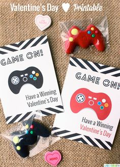Valentine's Day Game On! video game controller card #printables by Urban Bliss