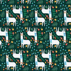 llamas fabric by annaboo on Spoonflower - custom fabric