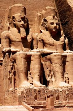 Temples of Pharaoh Ramesses II & Queen Nefertari, Abu Simbel, Egypt-.-