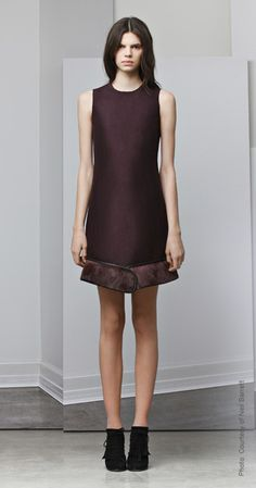 Fall/Winter 2012, a touch of fur trim on a simple skirt by Neil Barrett. Love it!