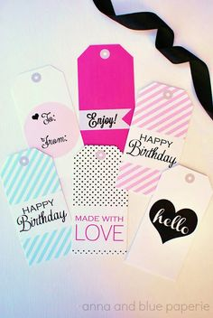 free printable gift tags @Anna Totten and blue paperie