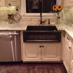 Kitchen cabinet kemper cabinetry fairbrook maple dover for Chocolate kitchen cabinets with stainless steel appliances