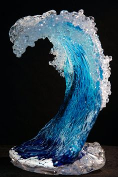 Glass Wave - Inspired by the Ocean in Kalapana, Big island of Hawaii | www.MoeHotGlass.com