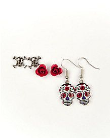 Shop Spirit Halloween for the best selection of Skeleton Costumes this season. Fast shipping on thousands of costumes. Sugar Skull Earrings, Halloween Accessories, Spirit Halloween, Earring Set, Skeleton, Drop Earrings, Costumes, Rose, Coupons
