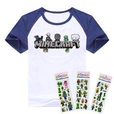 kids tee funny cartoon game pokemon star war minions despicable me t-shirt for children clothing clothes girls boys T shirt