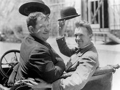 stan Laurel and Oliver hardy! At aged 16 Stan Laurel made his stage debut at the Britannia Panopticon, Glasgow, Laurel And Hardy, Stan Laurel Oliver Hardy, Great Comedies, Classic Comedies, Classic Hollywood, Old Hollywood, Photo Star, Comedy Duos, Comedy Actors