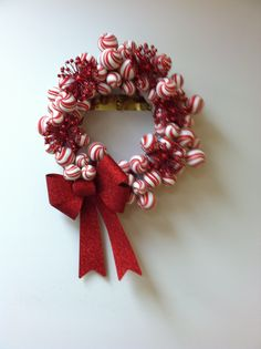 """Peppermint"" wreath donation by Melanie Alexander."