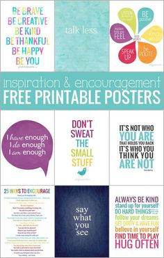 Printable Posters for Inspiration and Encouragement. Ten free printable posters - for inspiration and encouragement!Ten free printable posters - for inspiration and encouragement! Free Poster Printables, Free Printable Quotes, Printable Classroom Posters, Printable Cards, Inspirational Posters, Motivational Quotes, Motivational Posters For School, Inspiring Quotes, Positive Quotes
