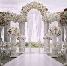 ideas for wedding arch white flowers ceremony decorations Ceremony Arch, Outdoor Ceremony, Wedding Ceremony, Wedding Arches, Wedding Church, Table Wedding, Party Wedding, Wedding Bride, Beach Ceremony