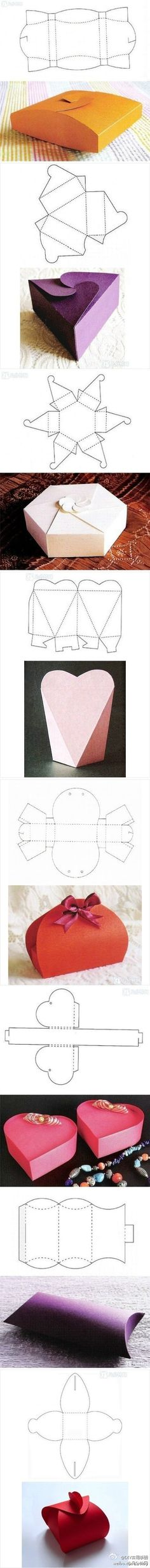 Printable paper box shapes