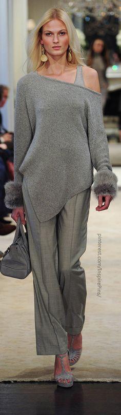 Farb-und Stilberatung mit www.farben-reich.com - Pre-Fall 2014 Ralph Lauren - love grey and gold